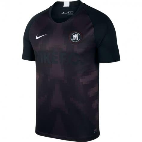 Nike Herren Trikot Nike F.C. Jersey SS Home AO666-010 S Black/Oil Grey/White/White | S