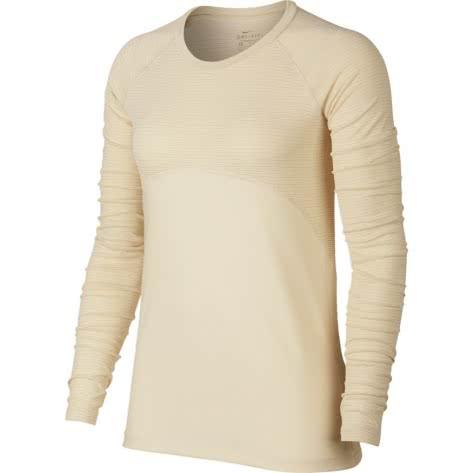 Nike Damen Trainingsshirt Pro Warm Top LS Champagne AO9226