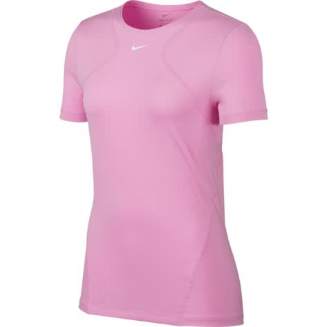 Nike Damen Trainingsshirt Pro Top SS All Over Mesh AO9951