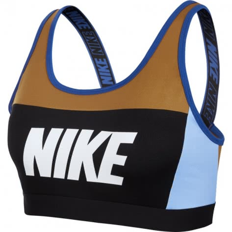 Nike Damen Sport BH Sport Distort Classic Bra AQ0142-790 S Wheat/Royal Tint/Game Royal/White   S