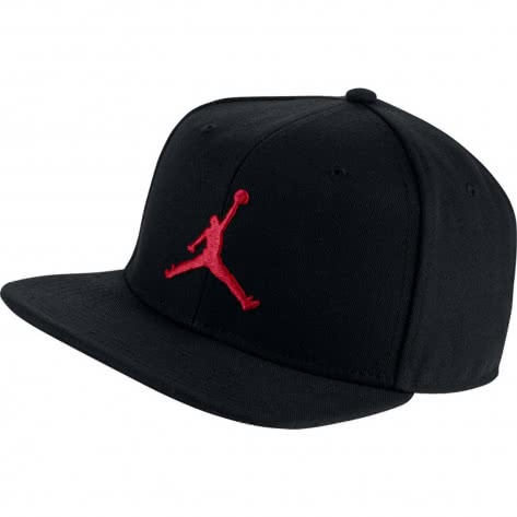 Jordan Kappe Pro Jumpman Snapback AR2118-010 Black/Black/Black/Gym Red | One size