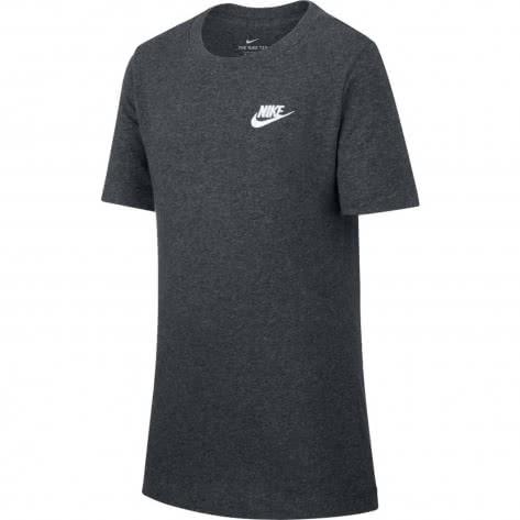 Nike Jungen T-Shirt Tee emb Futura AR5254-032 128-137 BLACK HEATHER | 128-137