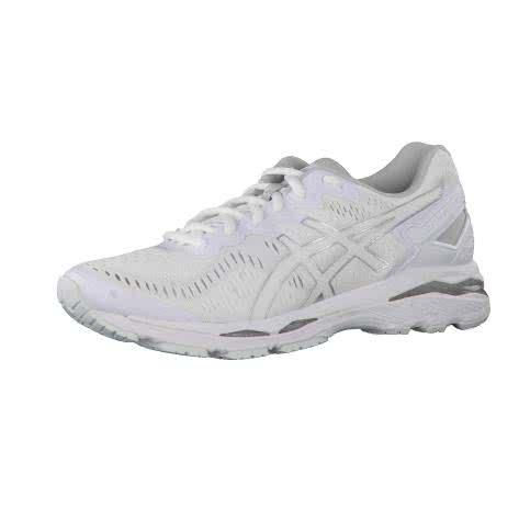 Asics Damen Laufschuhe Gel-Kayano 23 T788N White/Snow/Silver Größe: 40,42,44