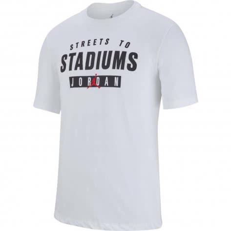 Jordan Herren T-Shirt Streets to Stadiums AT0560-100 M White | M