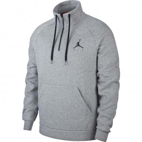 Jordan Herren Pullover Jumpman Fleece 1/2 Zip AV3143-091 L Carbon Heather/Black | L