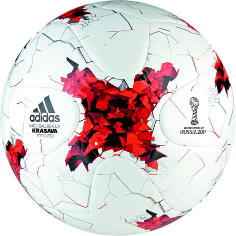 adidas Fussball CONFED CUP 2017 Top Glider AZ3204 3 white/red/power red/clear grey s12 | 3
