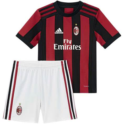 adidas AC Milan Home Mini Kit 17/18 AZ7064 110 victory red s04/black | 110