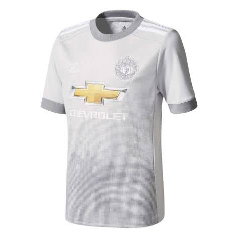 adidas Kinder Manchester United FC 3RD Trikot 17 18 lgh solid grey white grey Größe 128,164,176