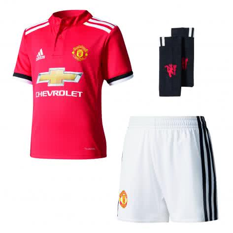 adidas Kinder Manchester United Home Minikit 17 18 real red s10 white black Größe 98