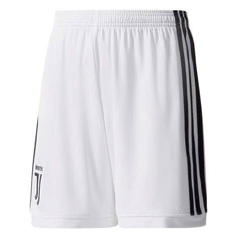 adidas Kinder Juventus Turin Home Short 17 18 white black Größe 164