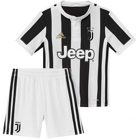 adidas Kleinkinder Juventus Turin Home Mini Kit 17 18 white black Größe 104,92,98