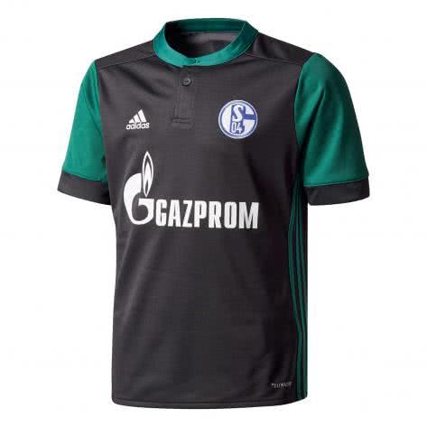 adidas Kinder FC Schalke 04 3rd Trikot 17 18 black collegiate green Größe 176