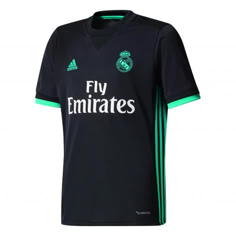 adidas Kinder Real Madrid Away Trikot 17 18 black aero reef s11 Größe 128,140,152,164,176