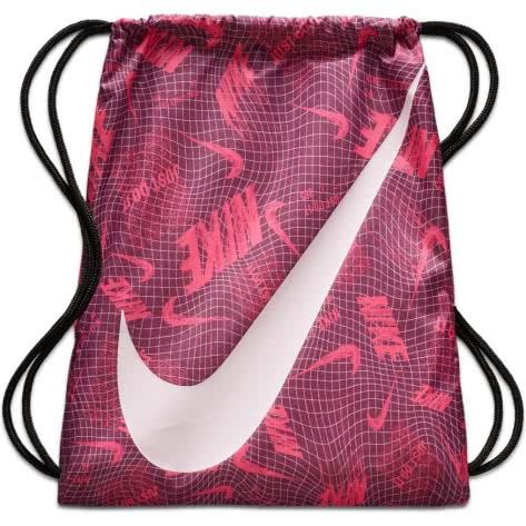 Nike Kinder Turnbeutel Graphic Gym Sack BA5262-609 Bordeaux/Black/Pink Foam   One size