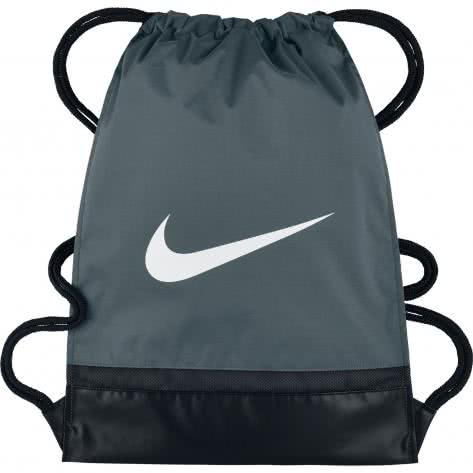 Nike Turnbeutel Brasilia Gym Sack BA5338-064 Flint Grey/Black/White | One size