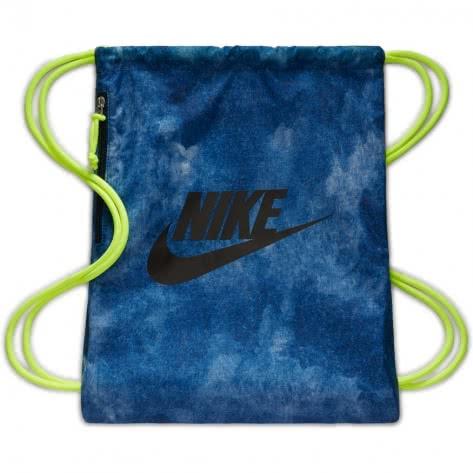 Nike Turnbeutel Heritage Gym Sack 1 - GFX BA5430-454 Armory Navy/Volt/Black | One size