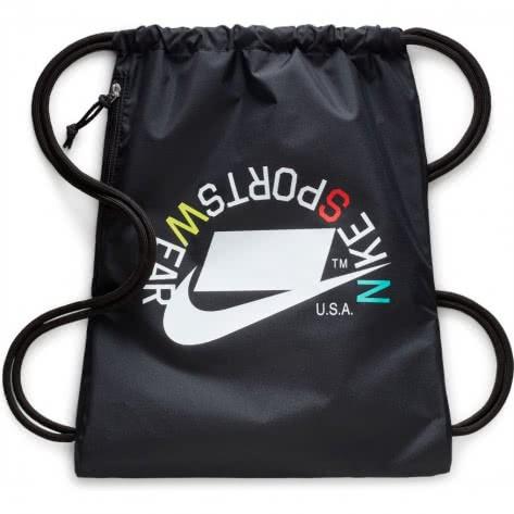 Nike Turnbeutel Heritage Gymsack 2 - GFX BA5431-019 Black/Black/White2 | One size