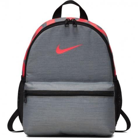 Nike Kinder Rucksack Brasilia JDI Mini Backpack BA5559-065 Cool Grey/Black/Racer Pink | One size