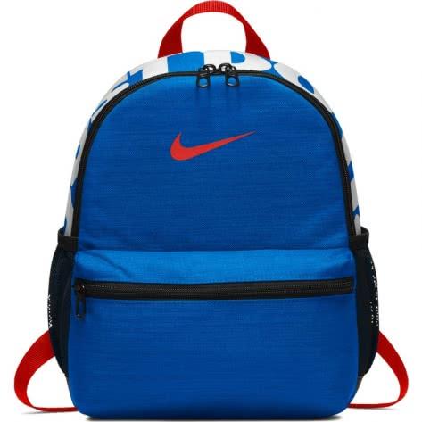 Nike Kinder Rucksack Brasilia JDI Mini Backpack BA5559-406 Photo Blue/Habanero Red/Habanero Red | One size