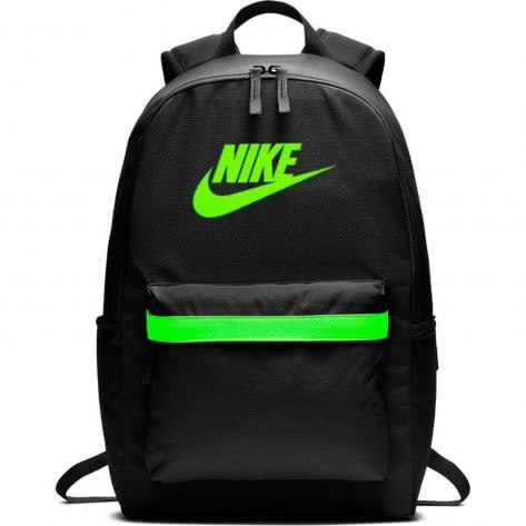 Nike Rucksack Heritage 2.0 Backpack BA5879-010 Black/Black/Electric Green | One size