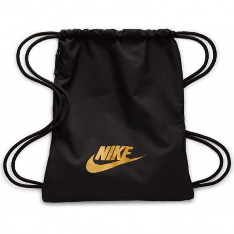 Nike Turnbeutel Heritage 2.0 Gym Sack BA5901-013 Black/Black/Metallic Gold | One size