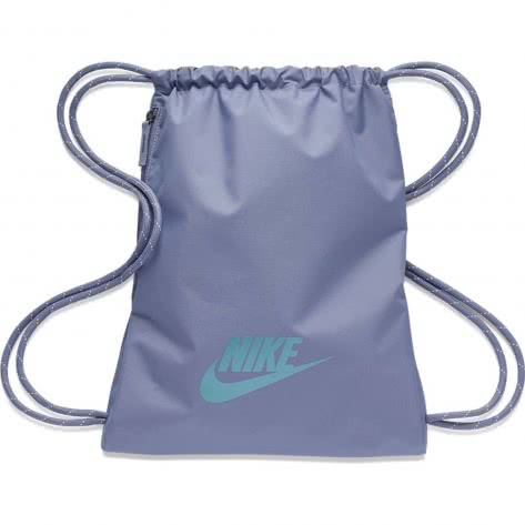Nike Turnbeutel Heritage 2.0 Gym Sack BA5901-512 Stellar Indigo/Metallic Silver | One size