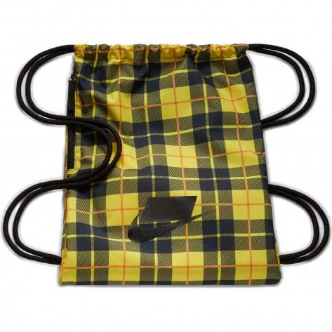 Nike Turnbeutel Heritage 2.0 Gym Sack AOP BA5902-703 Chrome Yellow/Black/Black | One size