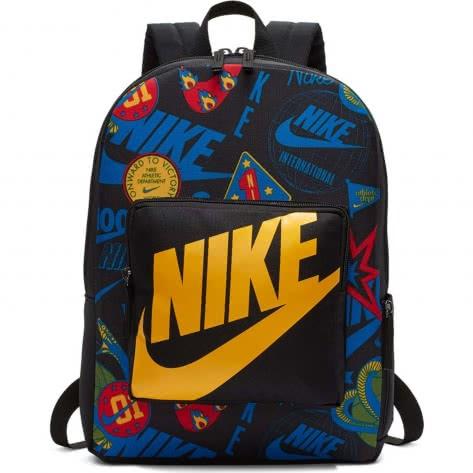 Nike Kinder Rucksack Classic Printed Backpack BA5995-013 Black/Black/University Gold   One size