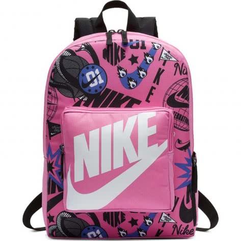 Nike Kinder Rucksack Classic Printed Backpack BA5995-610 China Rose/Black/White | One size
