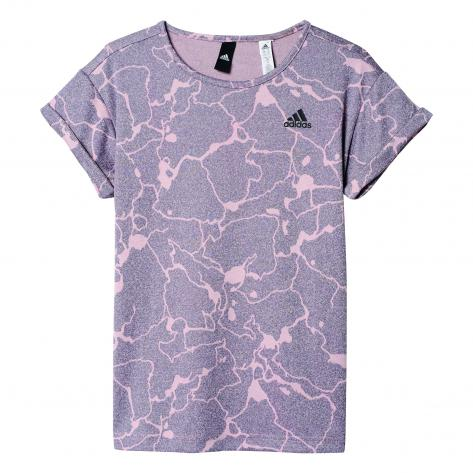 adidas Mädchen T-Shirt ID Loose Tee still breeze f12 trace grey s17 Größe 140
