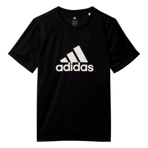 adidas Kinder T-Shirt Gear Up Tee black white Größe 110,116,128,140,152,164,176