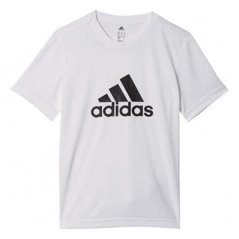 adidas Kinder T-Shirt Gear Up Tee white black Größe 110,116,128,140,164,176