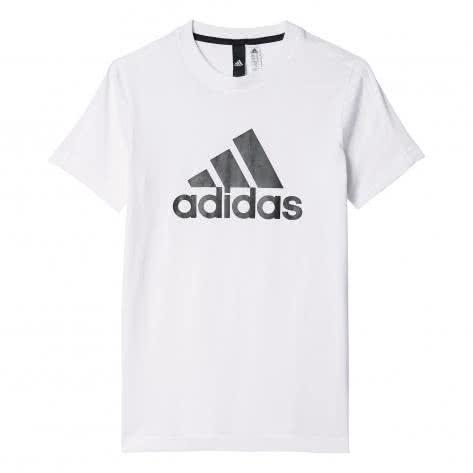 adidas Jungen T-Shirt Essentials Logo white black Größe 110,116,128,140,164