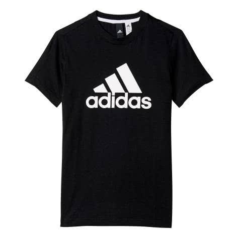 adidas Jungen T-Shirt Essentials Logo black white Größe 110,116,140