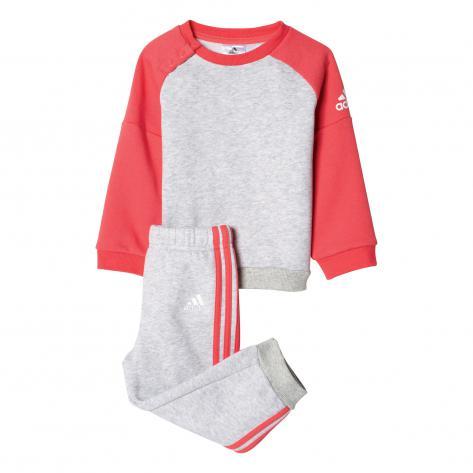 adidas Kinder Trainingsanzug Sports Crew Jogger Light Grey Heather Core Pink S17 Größe 62,68,74,80,86,92