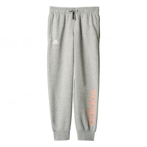 adidas Mädchen Trainingshose Essentials Linear medium grey heather still breeze f12 Größe 128,134,146