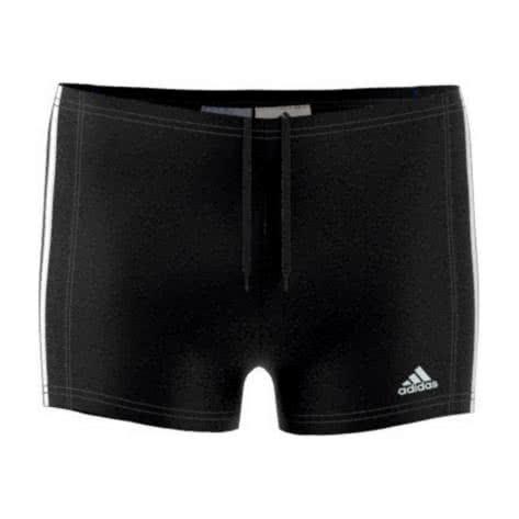 adidas Jungen Badehose ESSENCE CORE 3S BOXER black white Größe 104,110,128,140,164,176,92,98