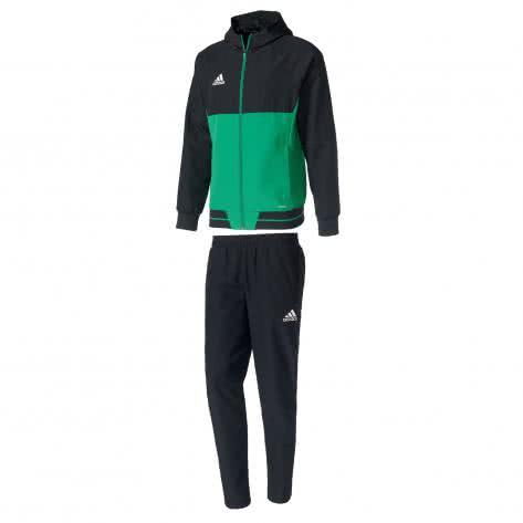 adidas Herren Präsentationsanzug Tiro 17 BQ2777+AY2861 XS black/green/white | XS