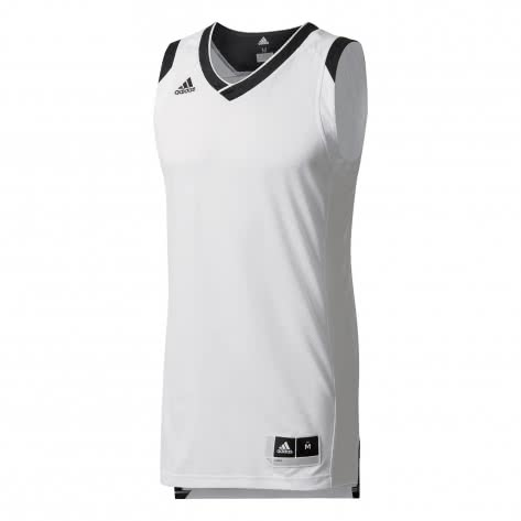 adidas Herren Basketball Trikot Crazy Explosive BQ7768 M white/black | M