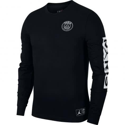 Jordan Herren Paris Saint-Germain Langarmshirt LS Tee BQ8382-010 L Black/White | L