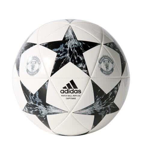 adidas Fussball Manchester United FINALE 17 Capitano white/black/lgh solid grey/onix Größe: 5