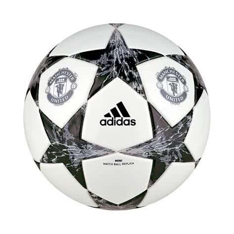 adidas Fussball Manchester United Finale 17 Mini white/black/lgh solid grey/onix Größe: 1