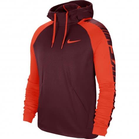 Nike Herren Kapuzenpullover Therma Hoodie PO GFX 3 BV3875-681 L Night Maroon/Team Orange/Team Orange | L