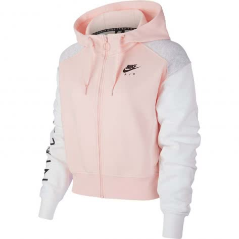 Nike Damen Sweatjacke Air Hoodie FZ BB BV4771-682 XL Echo Pink/Birch Heather/White | XL