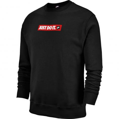 Nike Herren Pullover JDI Crew Fleece BSTR BV5089-010 M Black | M