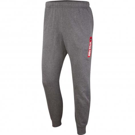 Nike Herren Trainingshose JDI Jogger Fleece BSTR BV5099-071 M Charcoal Heather | M