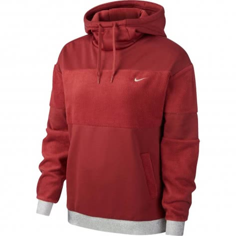 Nike Damen Kapuzenpullover Icon Clash Fleece PO HD BV5358-661 L Cedar/Metallic Silver | L