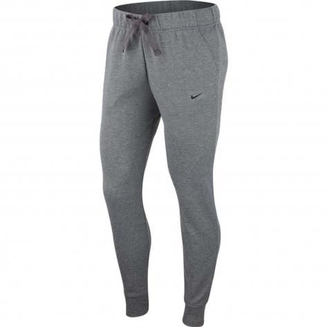 Nike Damen Trainingshose Dry Fleece Get Fit Pant Tapered CD4312-091 L Carbon Heather/Black | L