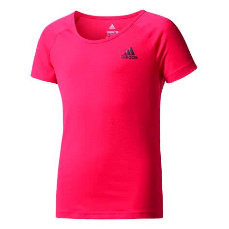 adidas Mädchen Trainingsshirt YG Prime Tee energy pink f17 black Größe 170