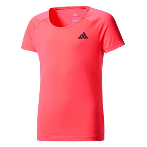 adidas Mädchen Trainingsshirt YG Prime Tee easy coral s17 black Größe 110,116,128